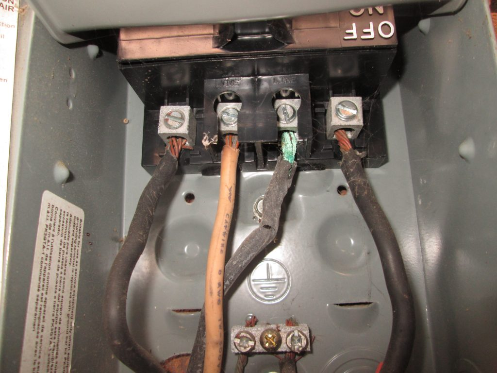 burned electrical wires found during a home inspection