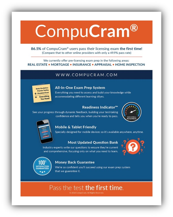 pic of compucram home inspection exam benefits