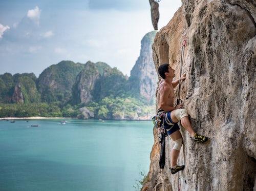 pic of difficult rock climb