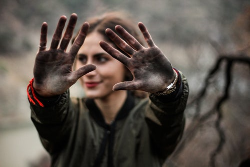 pic of dirty hands