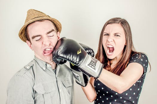 pic of couple fighting