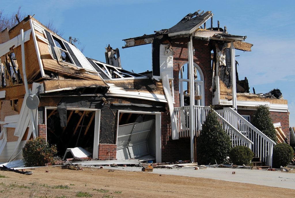 a house burns down after a home inspection