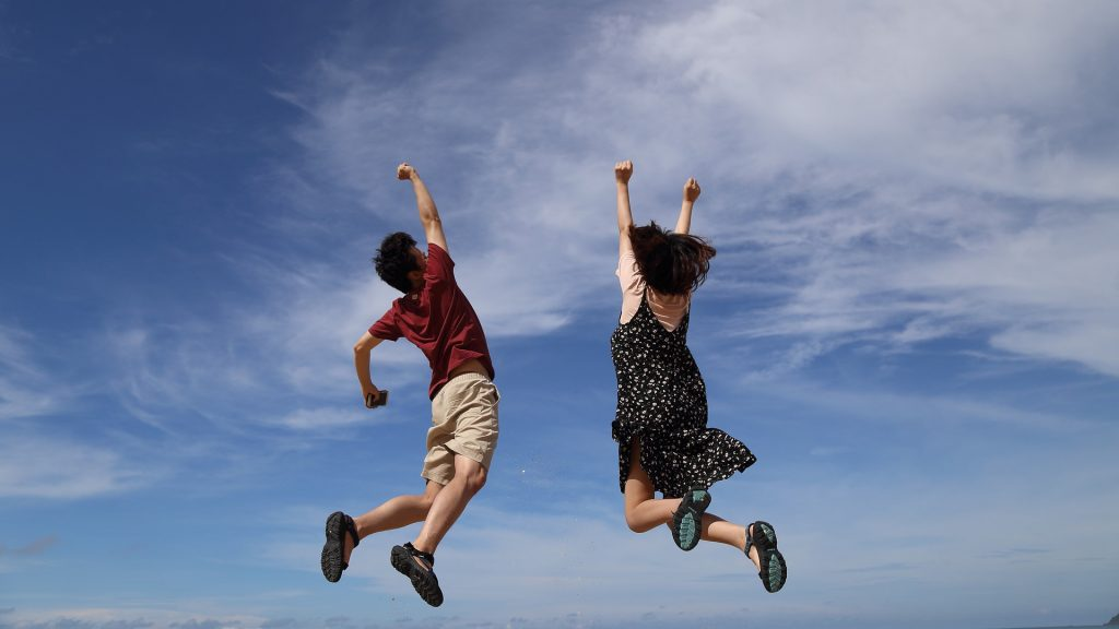jumping for joy over a great home inspection