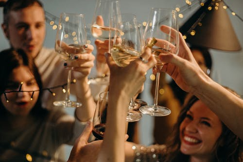 home inspectors celebrating new year