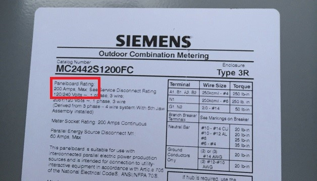 pic of electric panel tag