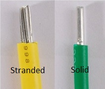 pic of stranded and solid AL wire
