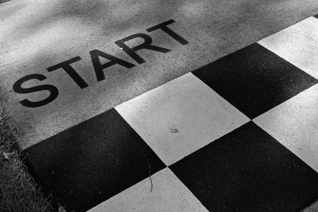 standing at the starting line of success in our home inspection business