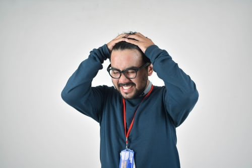 stressed out by a home inspection client